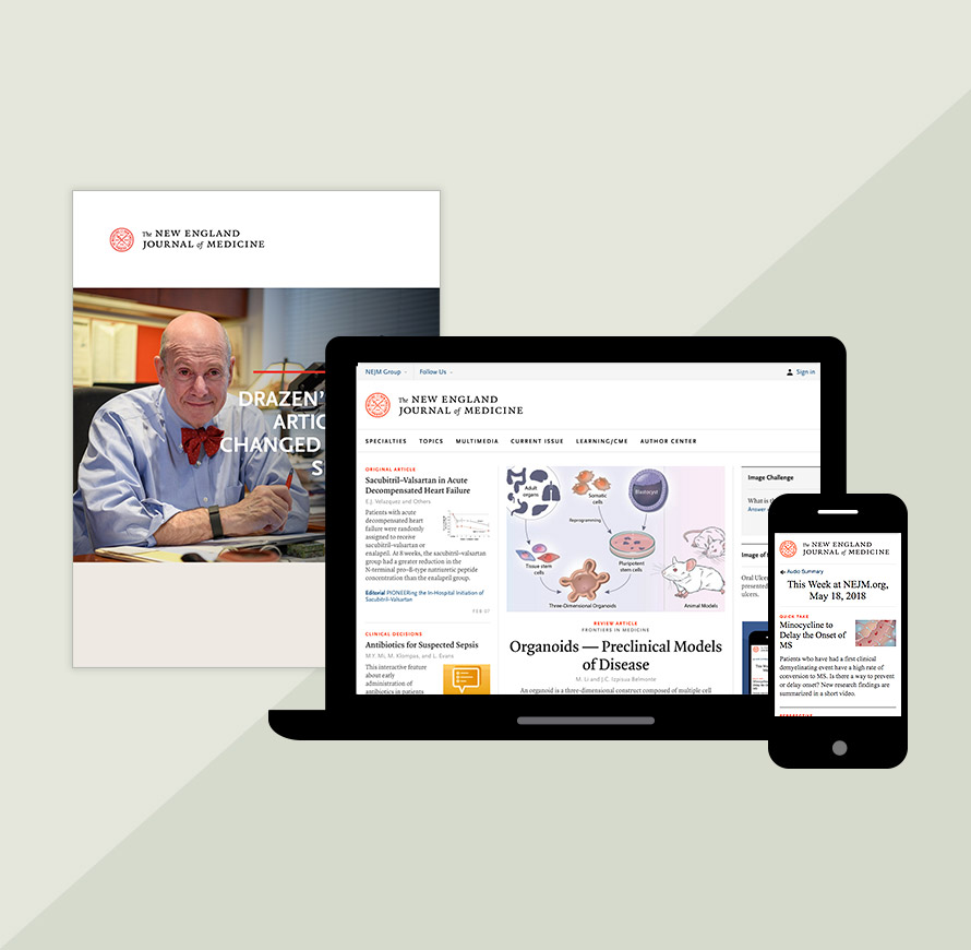 The New England Journal of Medicine: Research & Review Articles on